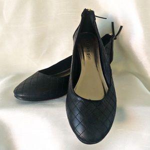 Madden Girl Black Quilted Ballerina Flats